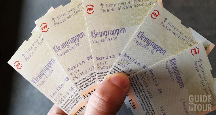 Biglietti della metro di Berlino.