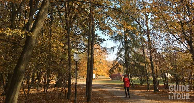 I colori autunnali in un parco di Berlino.