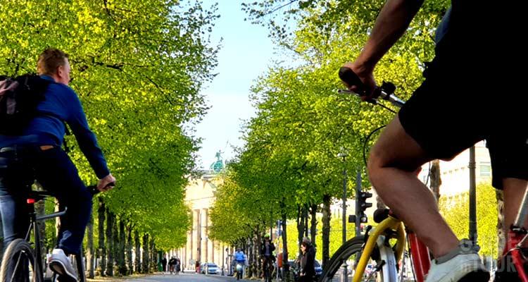 Un parco in di Berlino in primavera.