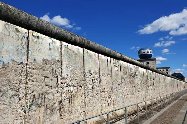 Parte originale del Muro di Berlino visitata nel Free Tour di Berlino in italiano.