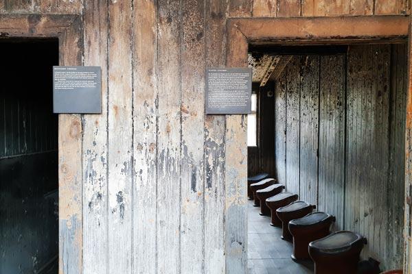 Baracche dei prigionieri del Campo di concentramento di Berlino Sachsenhausen