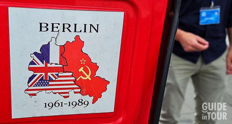 Mappa dell'occupazione militare di Berlino Est nel 1945.