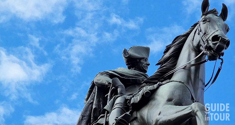 Statua equestre di Federico il Grande.