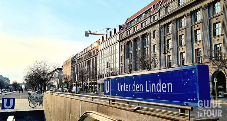 Il viale Unter den Linden a Berlino.